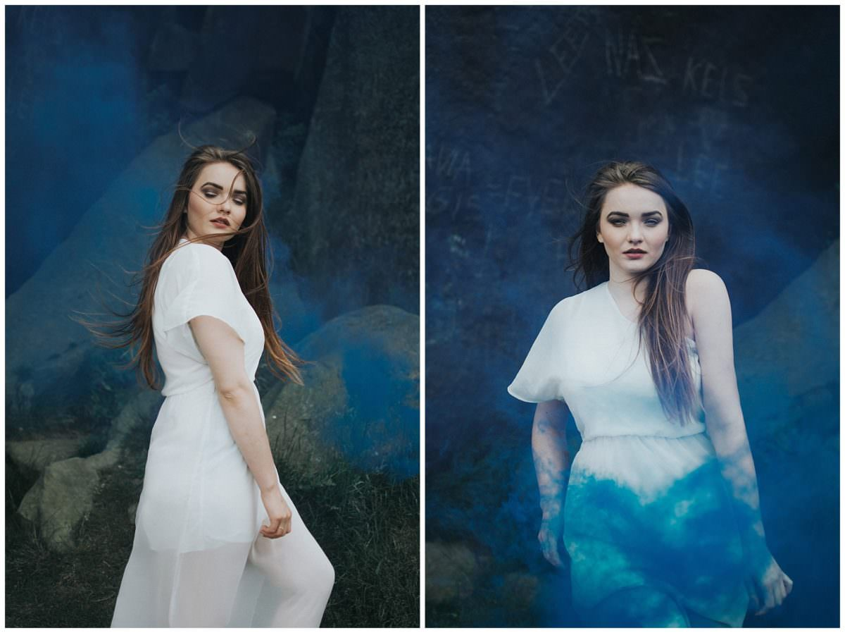 Leeds smoke bomb photo session