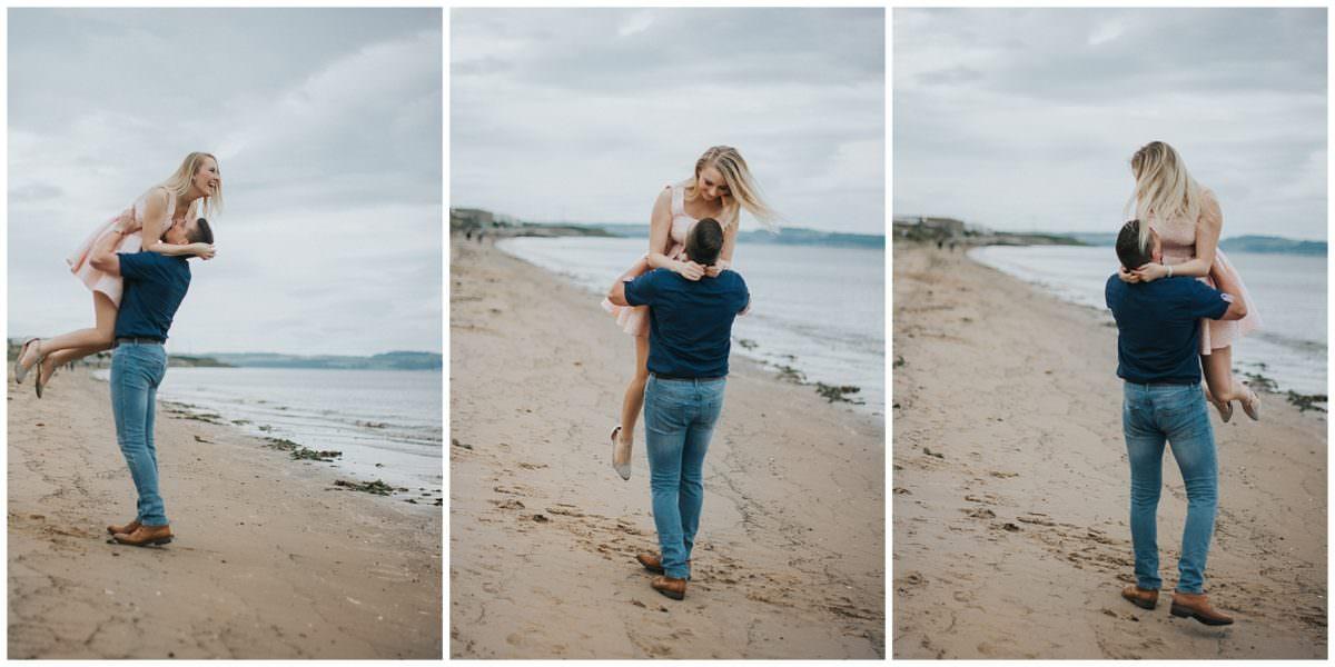 beach engagement photographer edinburgh