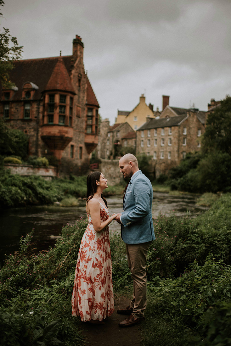 Dean Village engagement photoshoot - Edinburgh Scotland engagement photographer