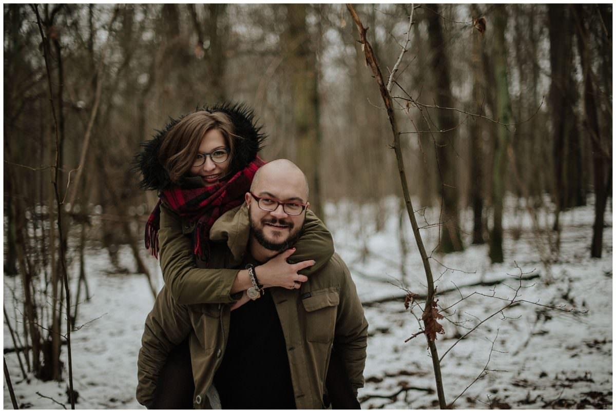 winter engagement session Edinburgh