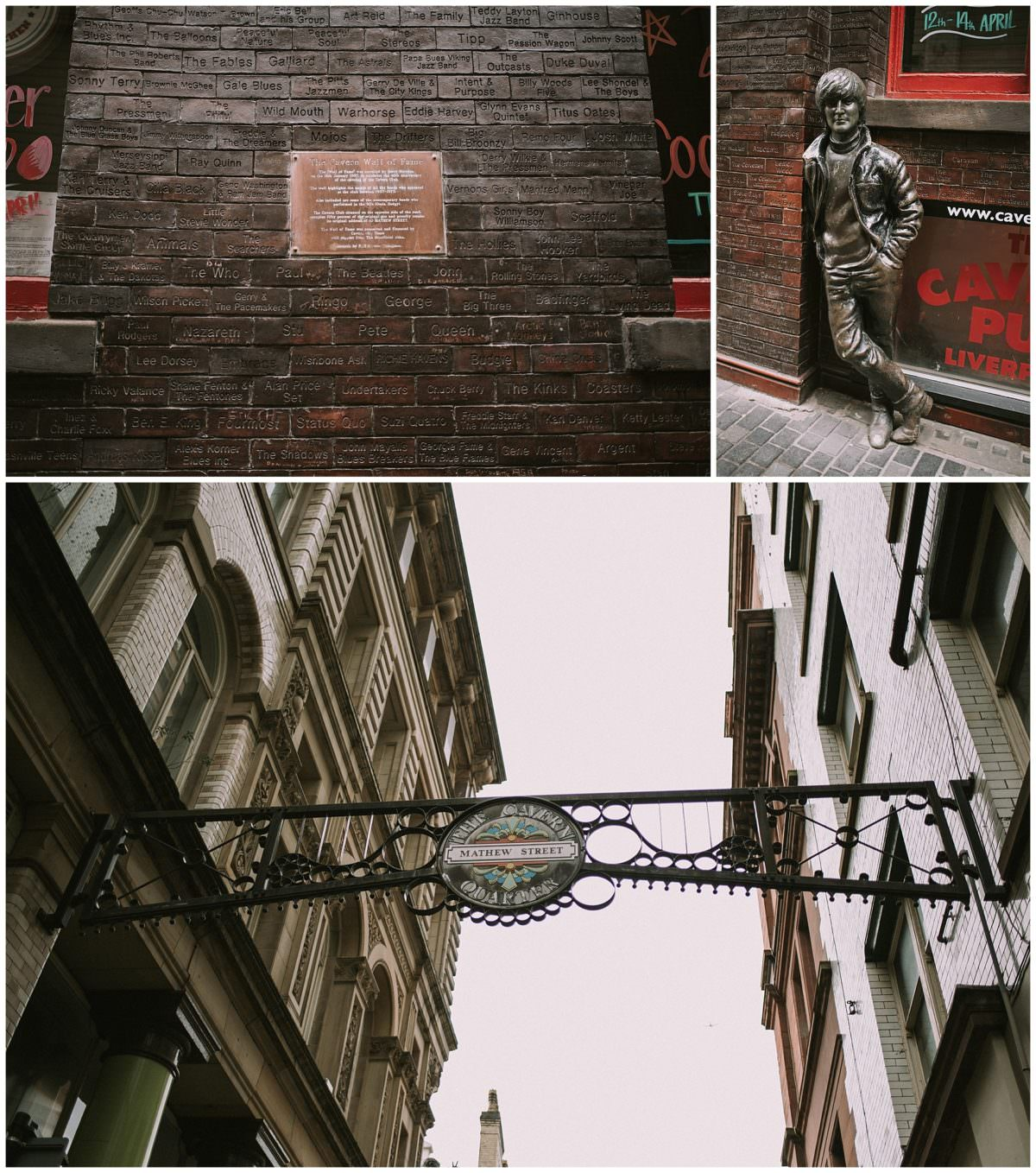 The Cavern Club and the Wall of fame, Liverpool