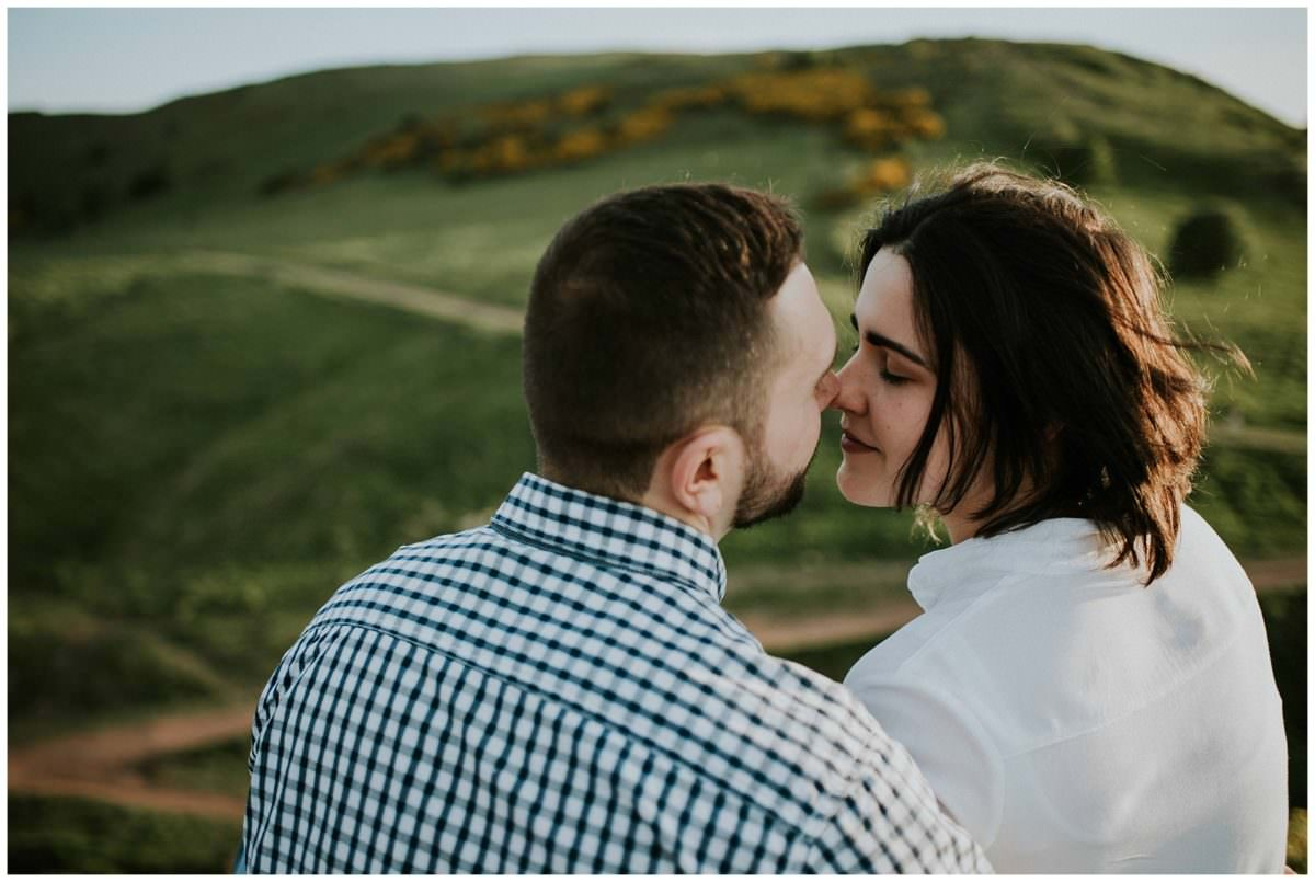 Arthur's Seat engagement photoshoot - Scotland photography