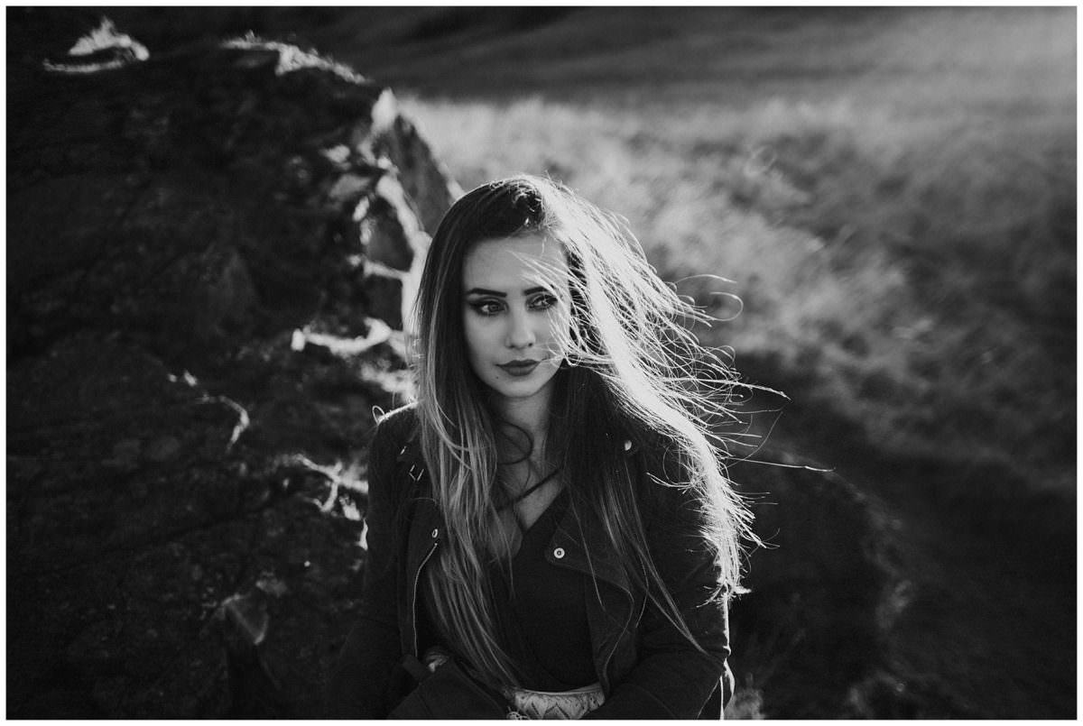 Photoshoot at Arthur's Seat - Edinburgh Scotland photographer