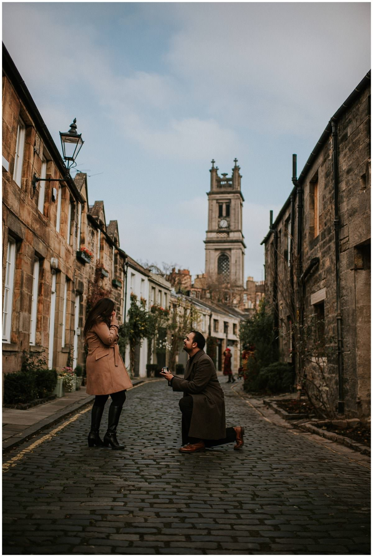 Secret proposal in Edinburgh Scotland - Edinburgh photographer