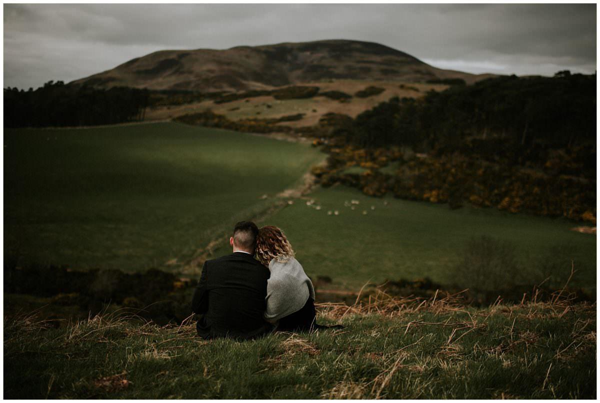 Intimate elopement in Pentland Hills - Scotland, Edinburgh