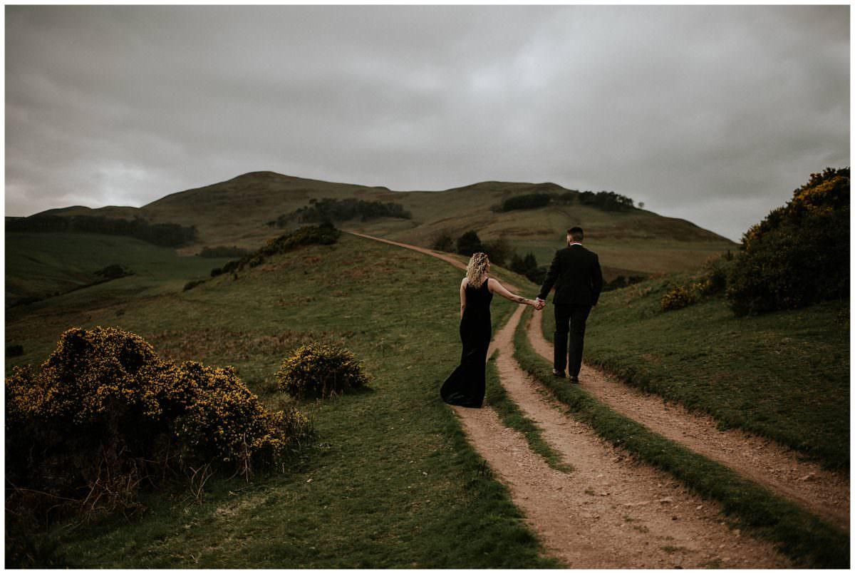 Intimate elopement in Scotland, Edinburgh