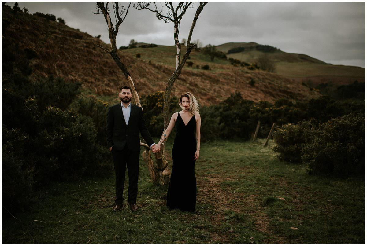 Intimate elopement in Edinburgh, Scotland