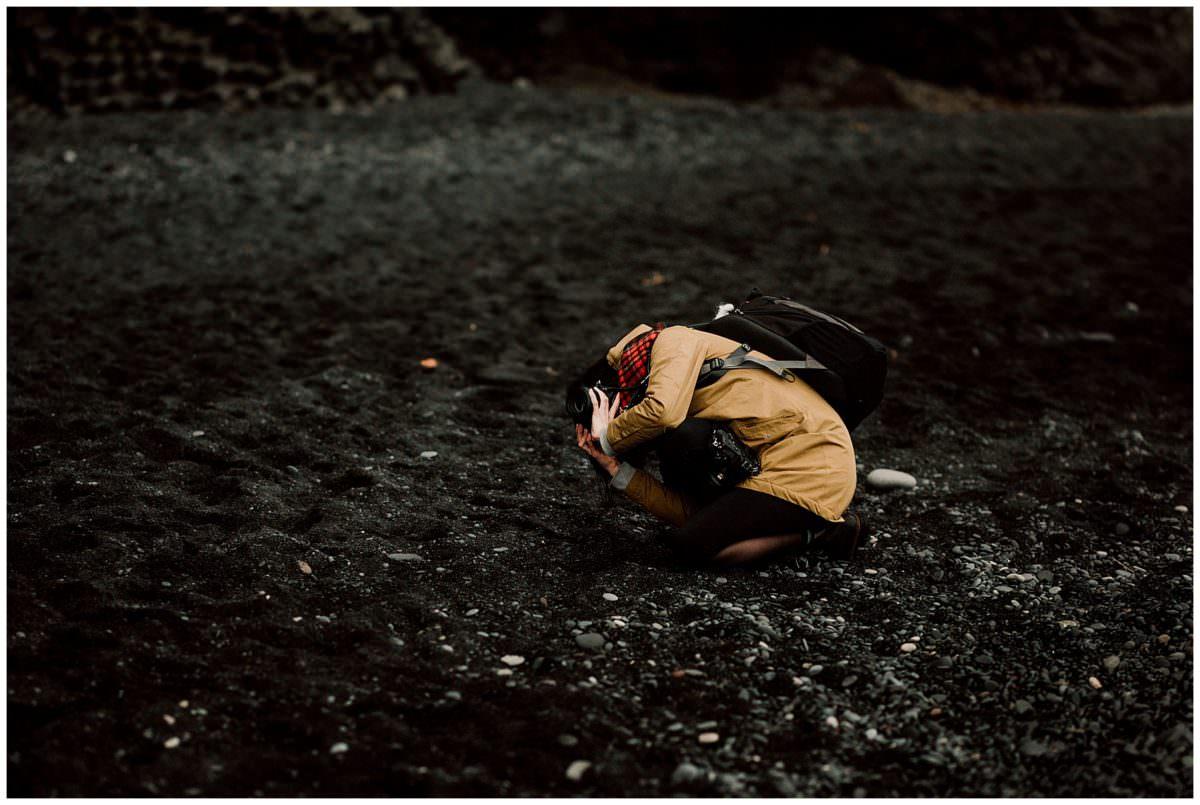 Iceland black beach photoshoot