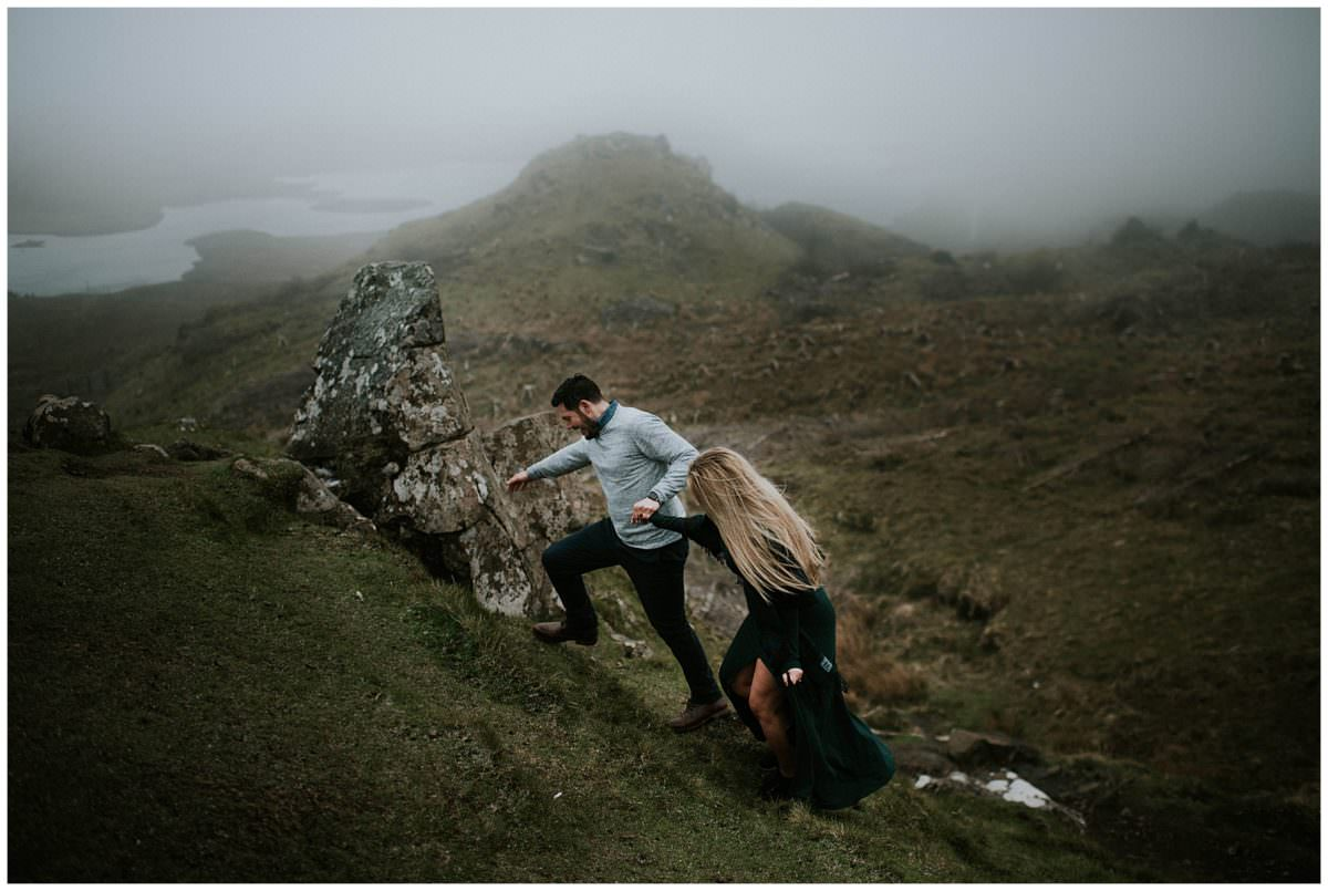 Isle of Skye wedding photography - Quiraing Scotland photoshoot