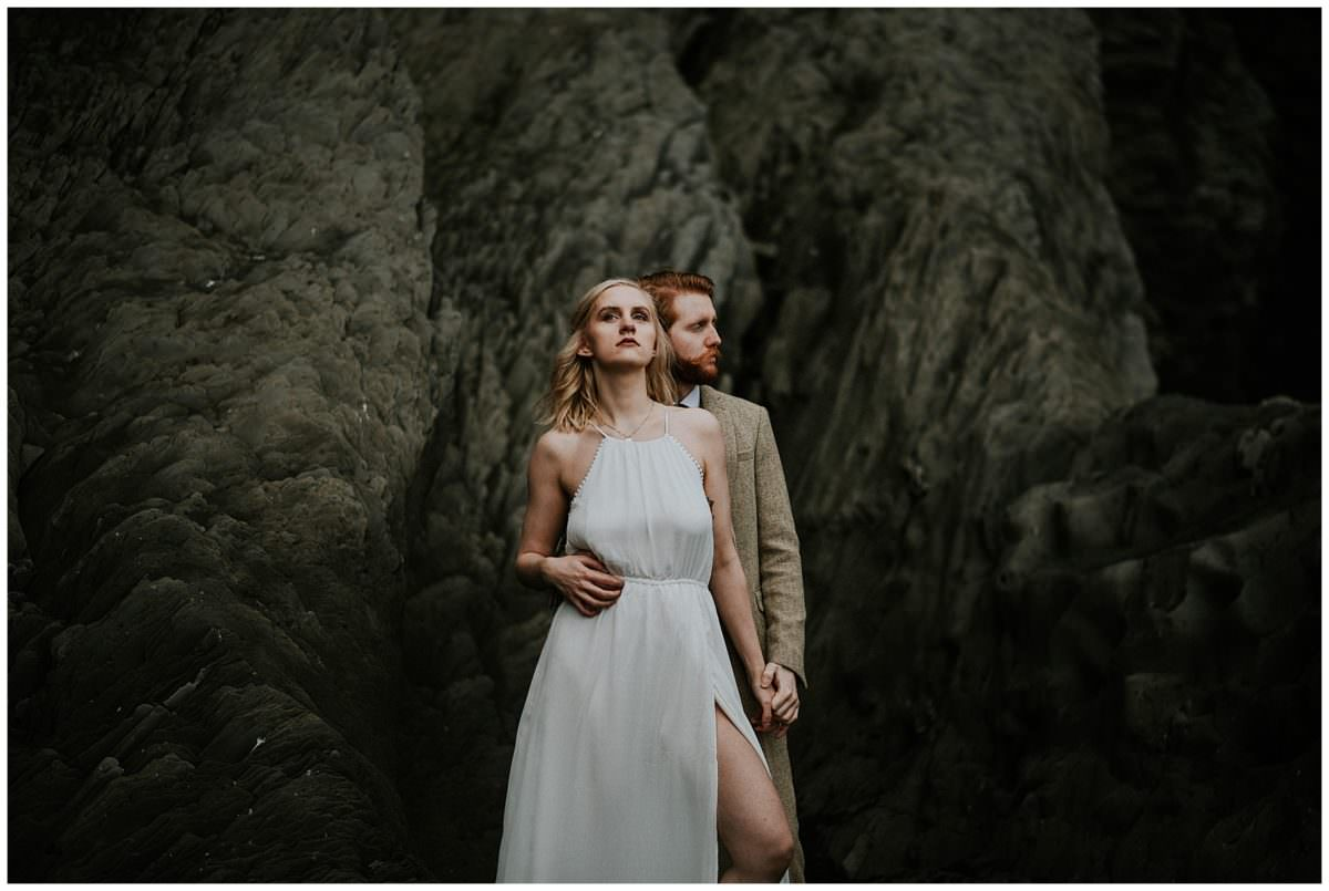 Reynisfjara black beach elopement photography - Iceland elopement photographer