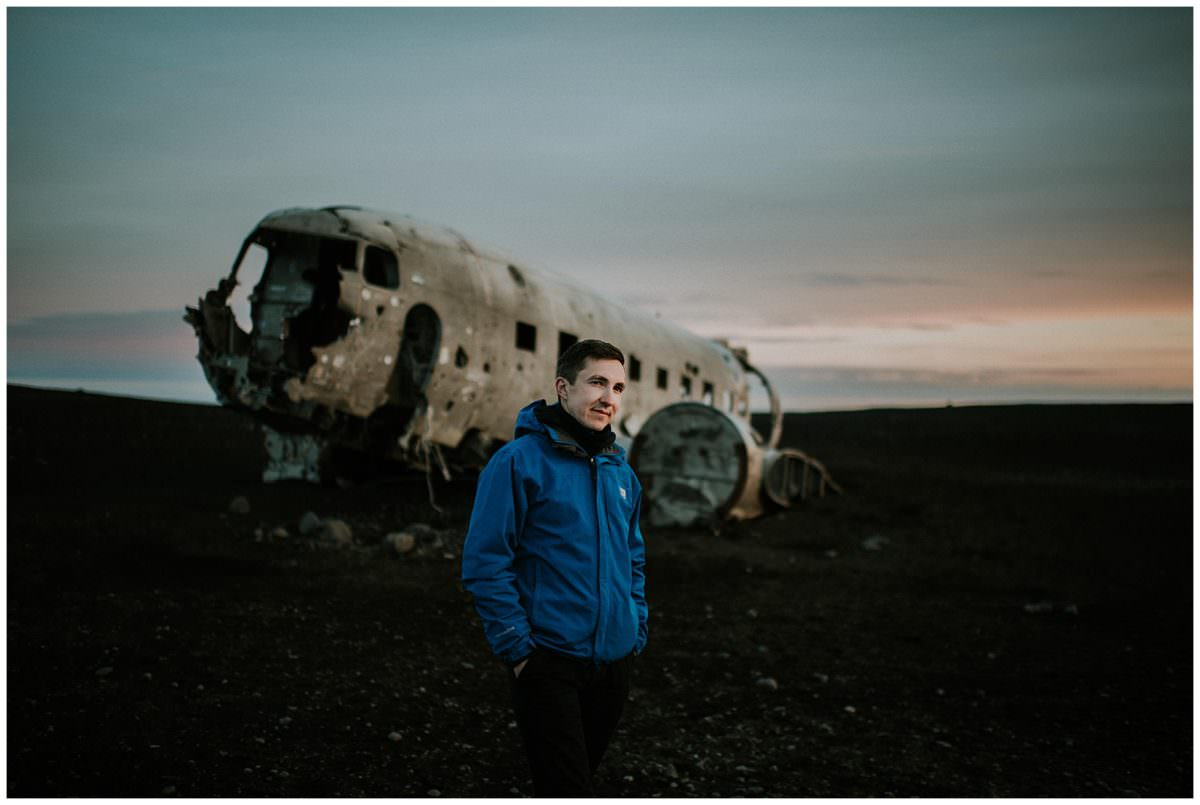 Place wreck in Iceland during sunset - Iceland photographer