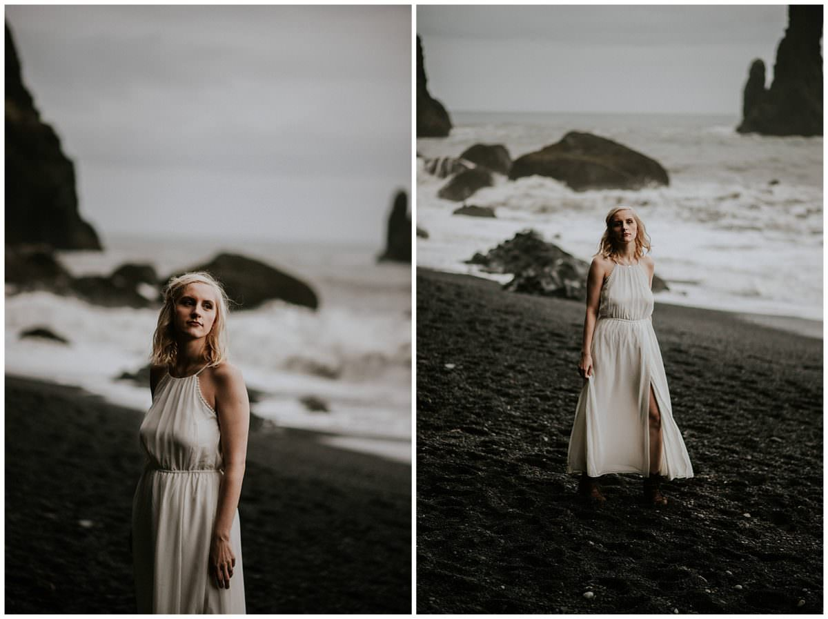 Reynisfjara black beach wedding photography - Iceland wedding photographer
