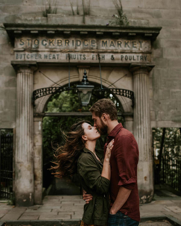 Sierra & John - proposal in Edinburgh Old Town