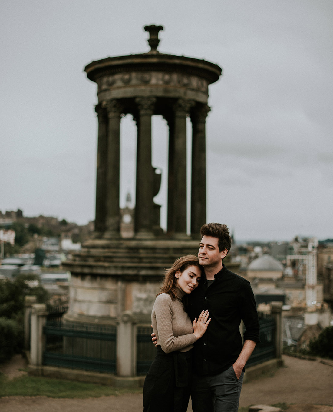 Carlton Hill engagement photoshoot - Edinburgh photographer