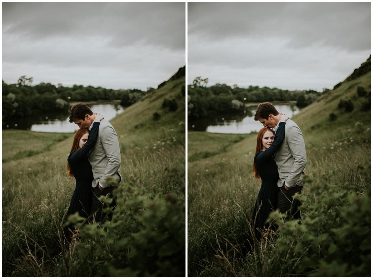 Arthur's Seat Edinburgh photoshoot - Edinburgh wedding photographer