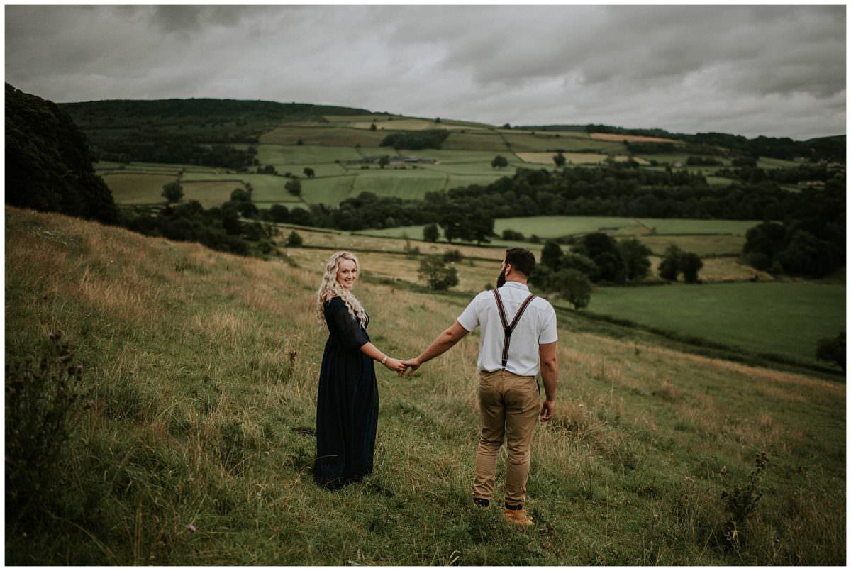 Peak District engagement photoshoot - Edinburgh photographer