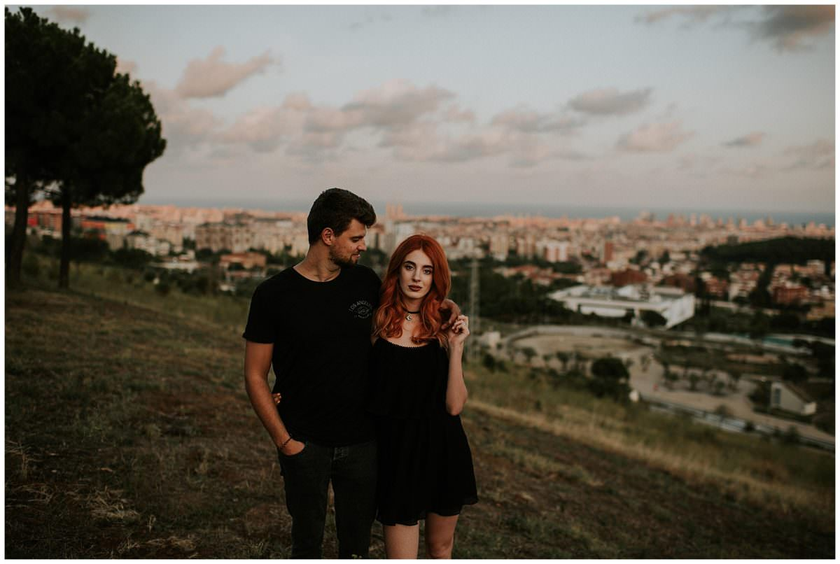 Barcelona couple photoshoot at sunset - Barcelona couples photographer