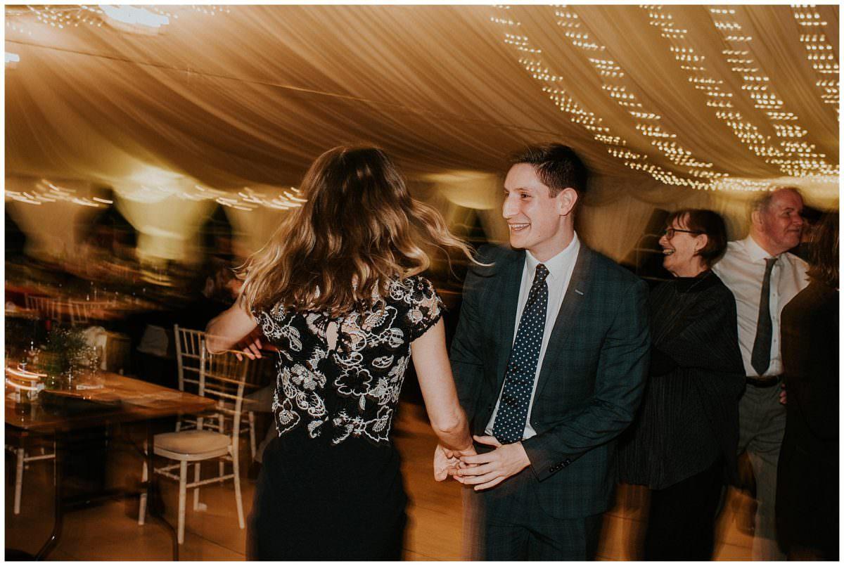 Ceilidh at a Scottish wedding - Scottish photographer