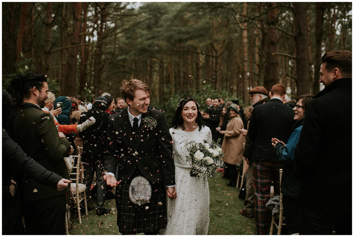 Harvest Moon woodland wedding - Scotland wedding photographer