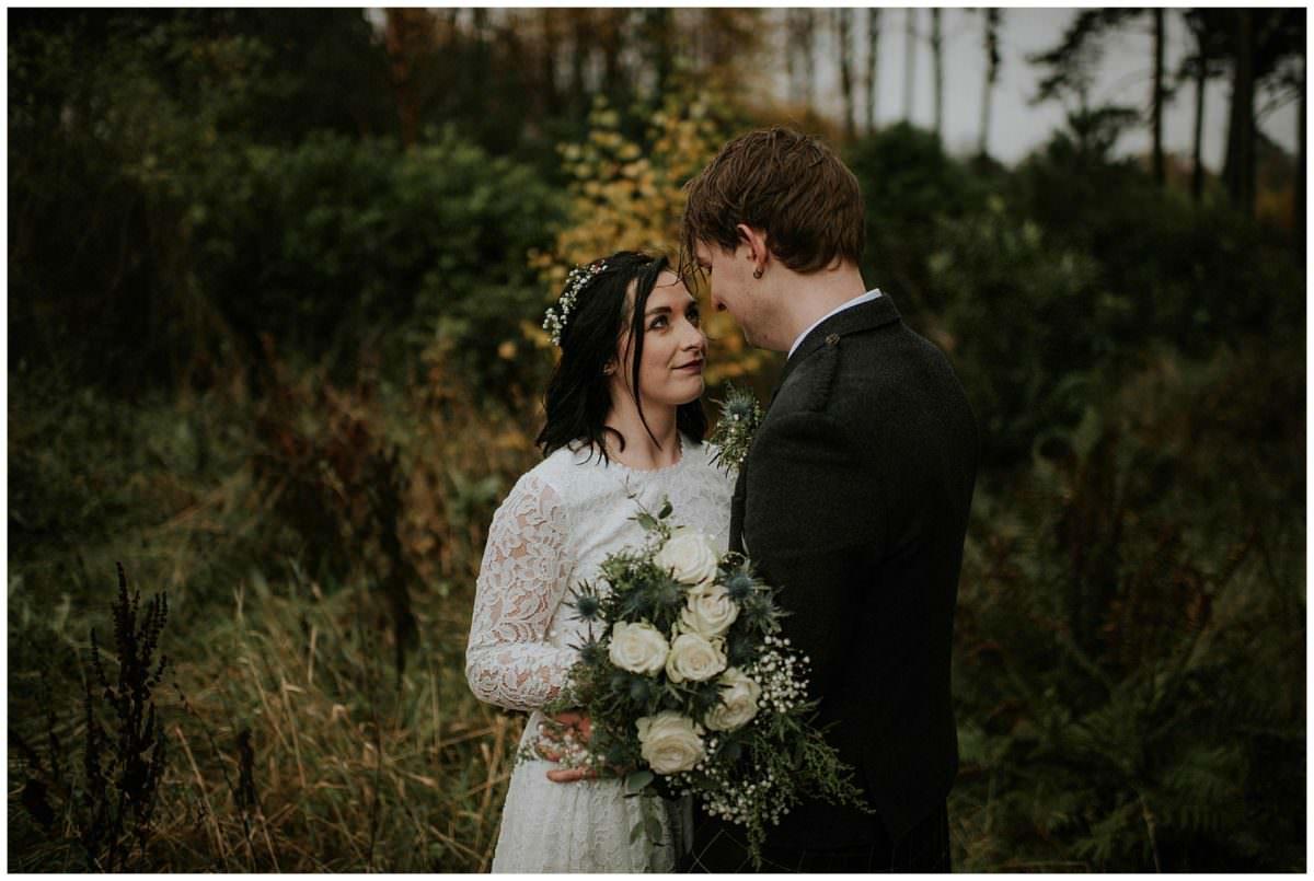 Scotland elopement in the forest - Scotland elopement photographer