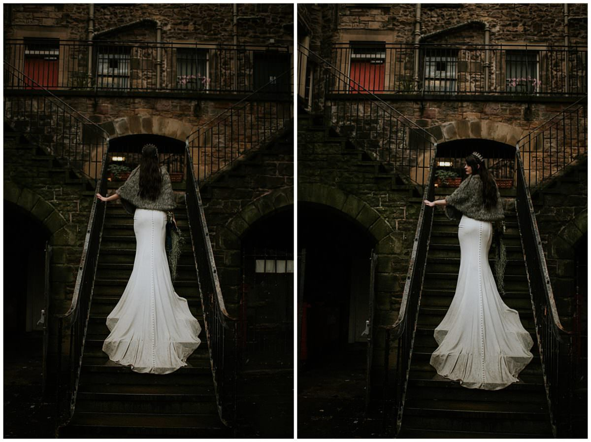 Edinburgh Castle elopement - Scottish wedding photographer