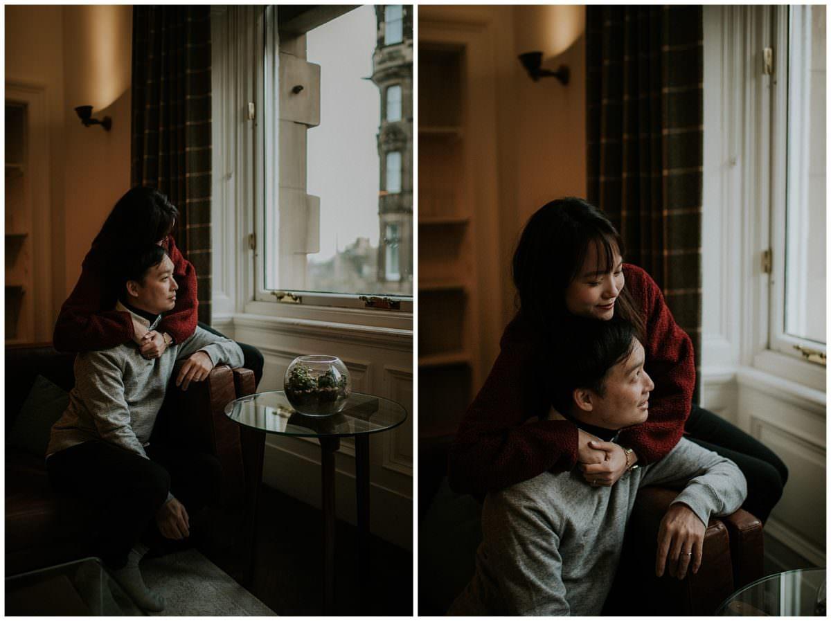 Edinburgh engagement photography - Scotland engagement photos