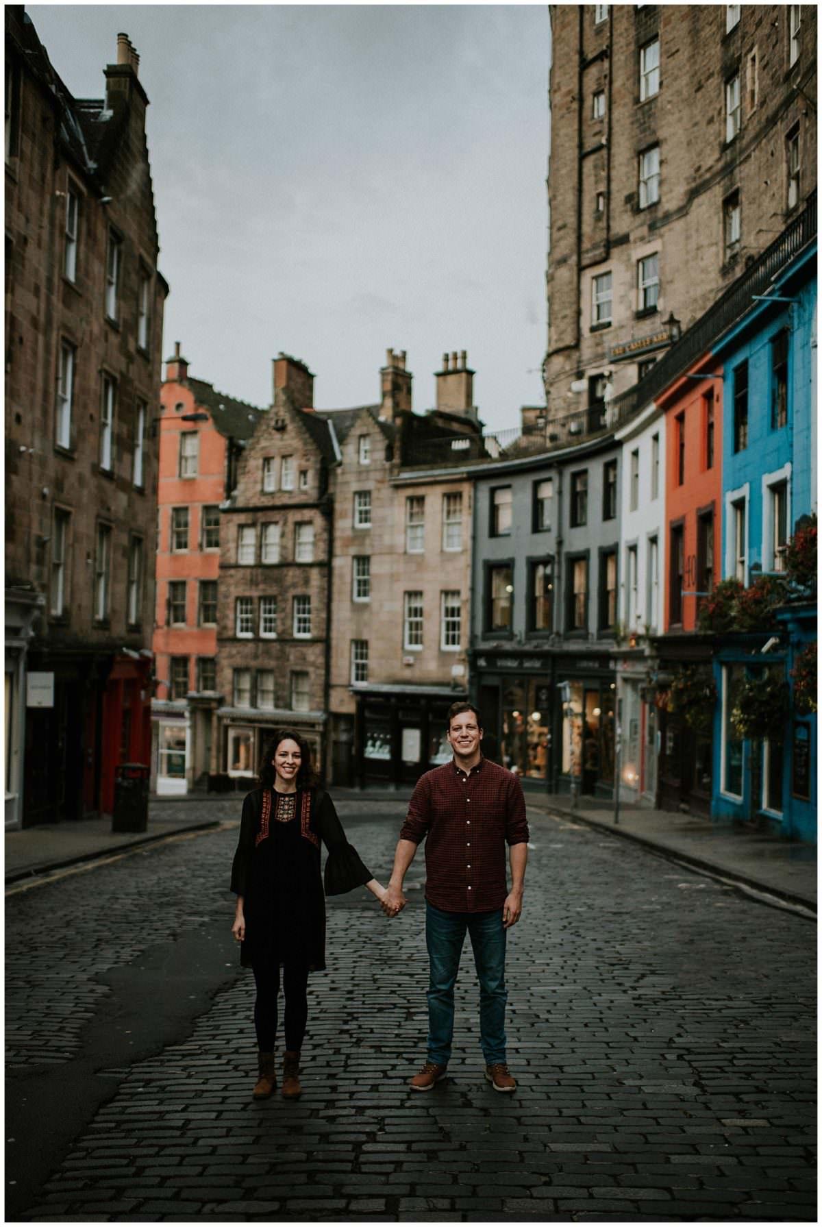 Edinburgh engagement photography - Victoria Street - Old Town Edinburgh