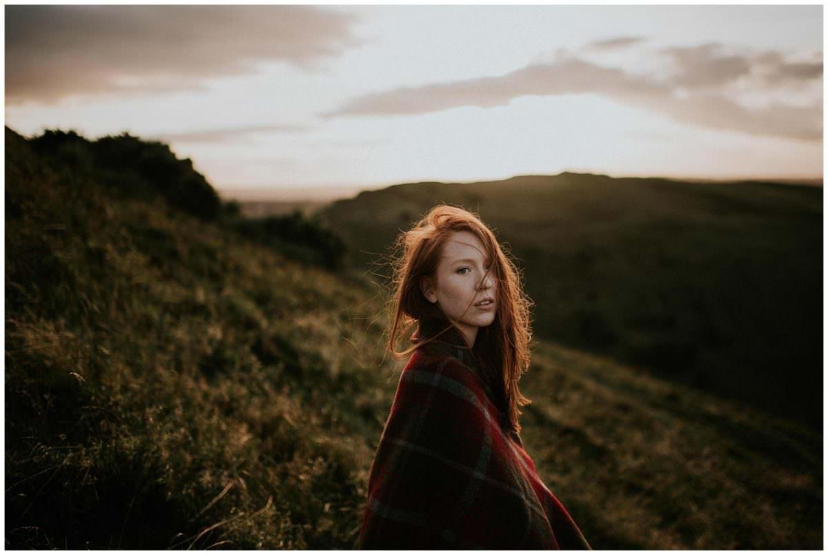 Scotland portrait photoshoot in Holyrood Park - Scotland portrait photographer