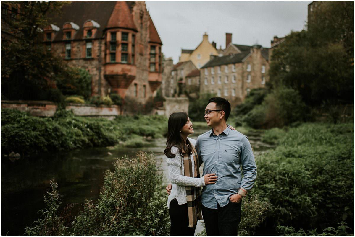 Scotland engagement session in Stockbridge & Dean Village - Scotland wedding photographer