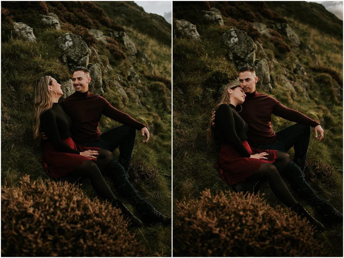 Arthur's Seat engagement session Edinburgh - Scotland photographer
