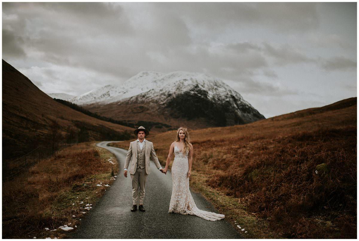 Glen Etive elopement - Scottish mountains wedding photographer