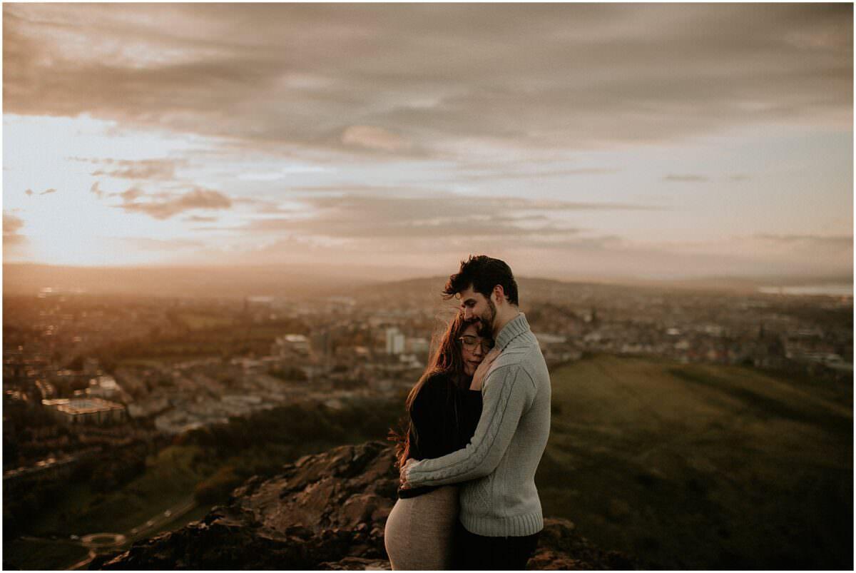 Surprise proposal in Edinburgh - Edinburgh engagement photographer