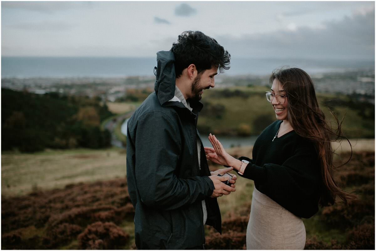 Surprise proposal in Edinburgh - Edinburgh proposal photographer