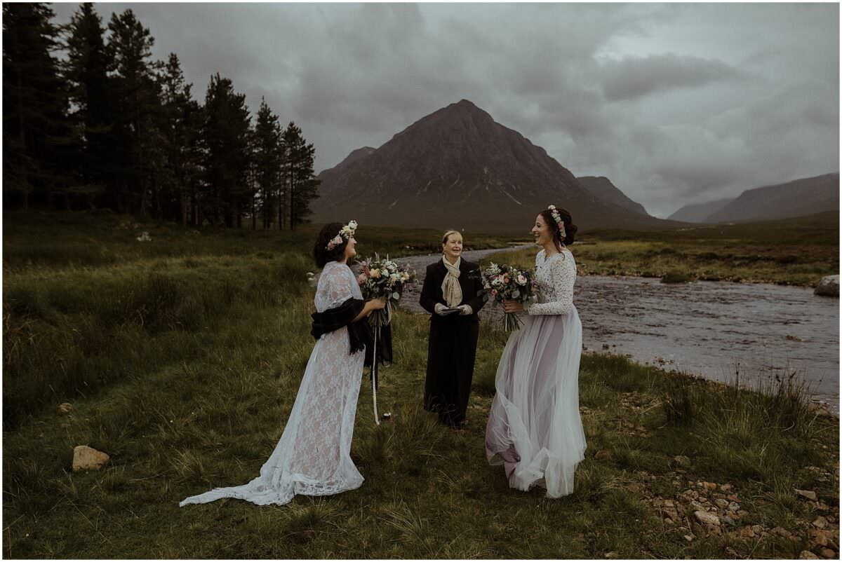 Scottish highlands same-sex elopement - Scotland elopement photographer