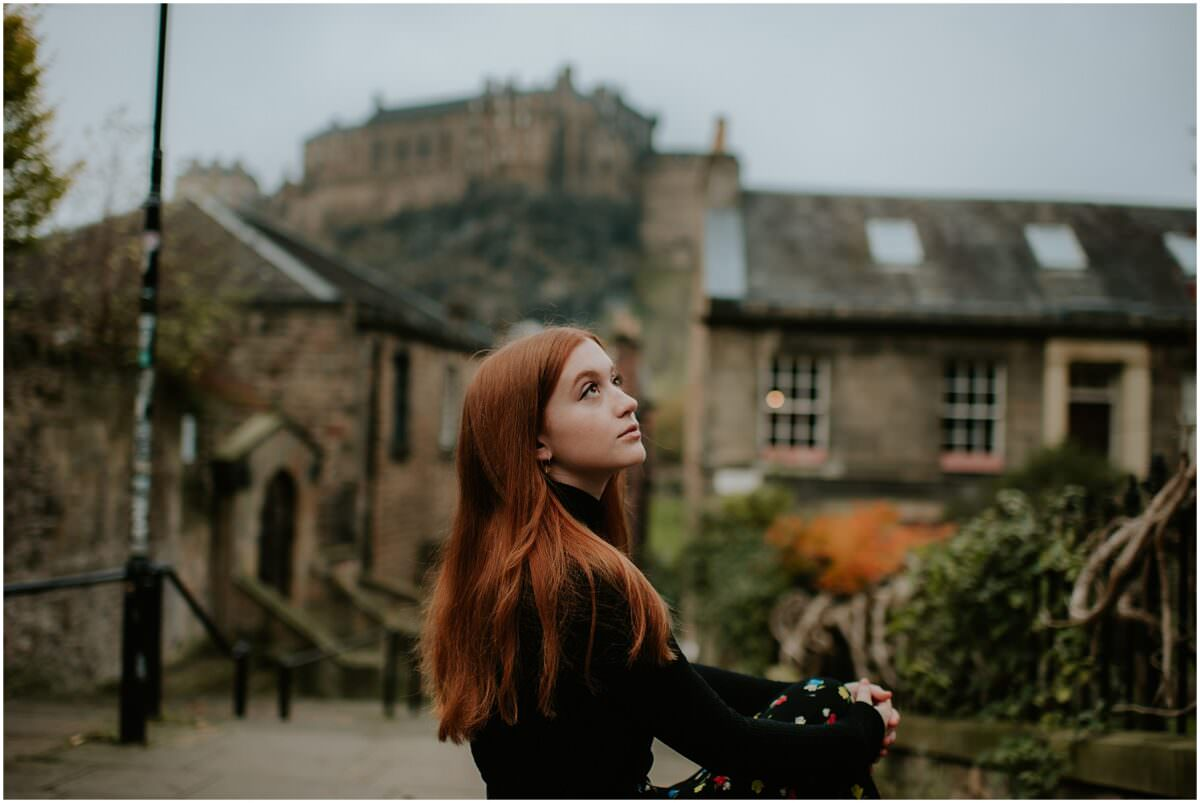 Autumn portrait photoshoot Scotland - Edinburgh portrait photographer