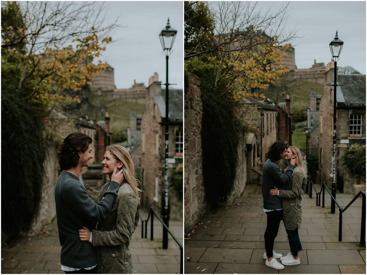 Circus Lane engagement photos Edinburgh - Edinburgh wedding photographer