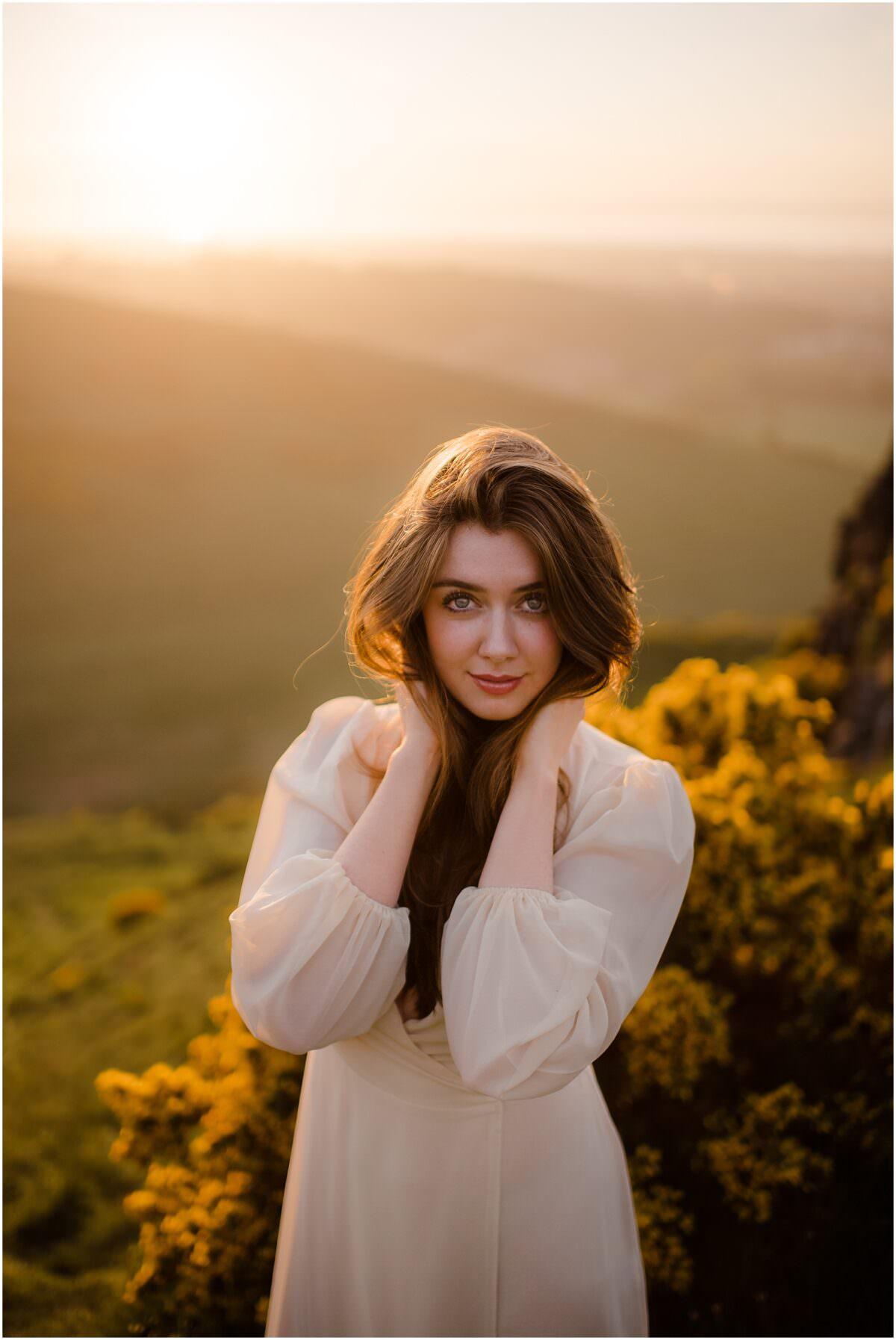 Edinburgh portrait photographer - Arthur's Seat sunset portrait photoshoot in Edinburgh