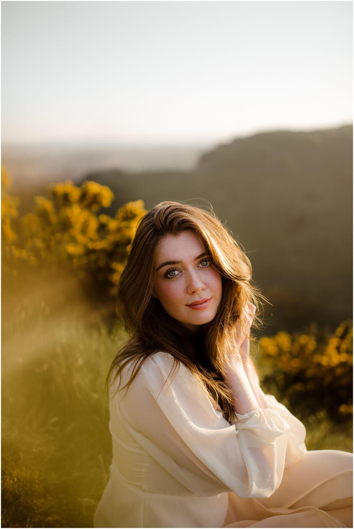 Scotland portrait photographer - Arthur's Seat sunset portrait photoshoot in Edinburgh