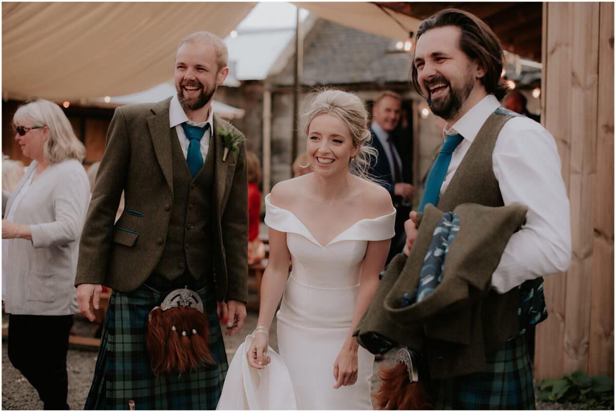 The Free Company wedding in Balerno Cockdurno Farmhouse - Edinburgh wedding photographer